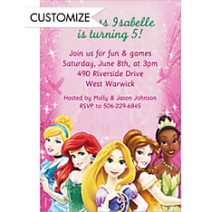Disney Princess Sparkle Custom Invitation