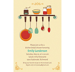 Kitchen Shower Custom Bridal Shower Invitation