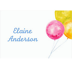 Bride with Balloons Custom Bridal Shower Thank You Note
