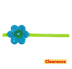 Blue Sequin Flower Headband