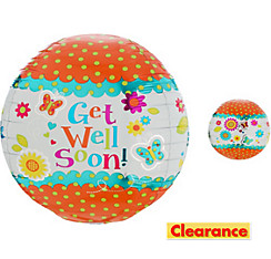 Orbz Floral Get Well Soon Balloon