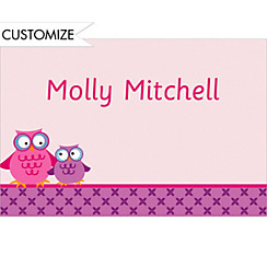 Custom Owls on a Branch Thank You Notes