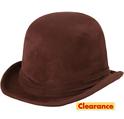 Adult Brown Derby Hat