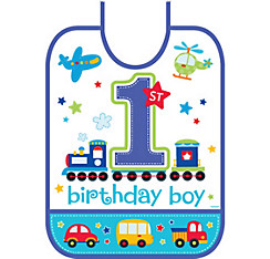 All Aboard Birthday Bib