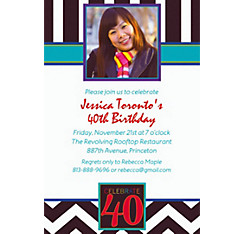 40th Celebration Custom Photo Invitation