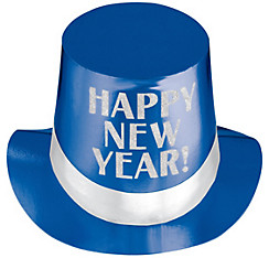 Blue New Year's Top Hat