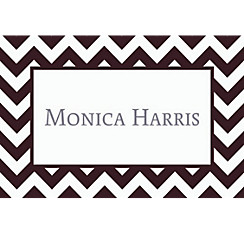 Black & White Chevron Custom Thank You Note