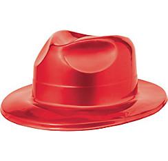 Red Plastic Fedora