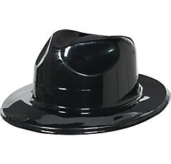Black Plastic Fedora