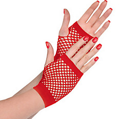Red Fishnet Glovelettes