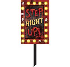 Step Right Up Yard Sign - Creepy Carnival