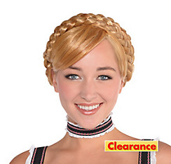 Blonde Bavarian Babe Milkmaid Braids Wig