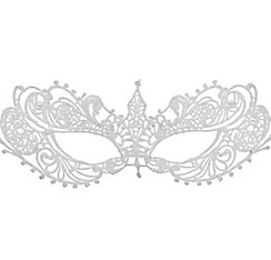 White Lace Masquerade Mask