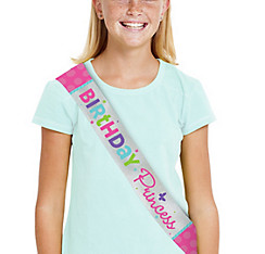 Metallic Purple & Teal Pastel Birthday Sash