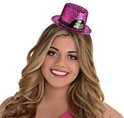 Glitter Team Bride Mini Top Hat