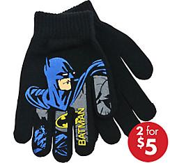Child Black Batman Gloves