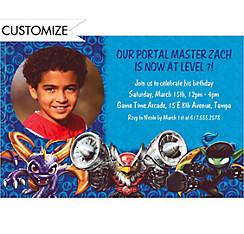 Custom Skylanders Photo Invitations