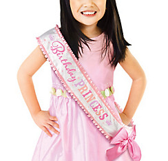 Pink Birthday Princess Sash Deluxe