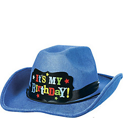 Blue Birthday Cowboy Hat