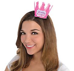 Pink Birthday Princess Mini Crown