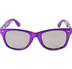 Metallic Purple Mirrored Sunglasses