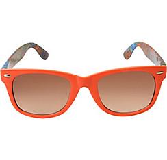 Psychedelic Orange Sunglasses