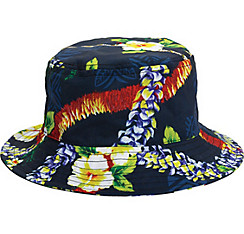 Blue Hibiscus Bucket Hat