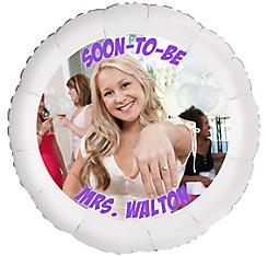 Custom Bridal Shower Photo Balloon