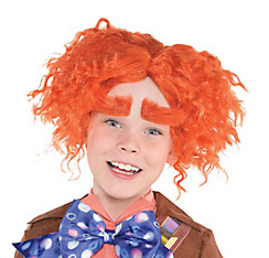 Child Mad Hatter Wig & Eyebrows - Alice Through the Looking Glass