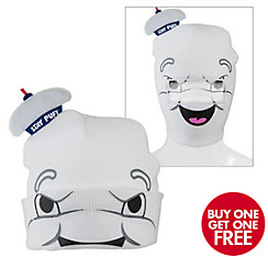 Stay Puft Marshmallow Man Roll-Down Mask Beanie - Ghostbusters
