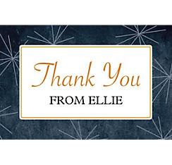 Custom Fireworks Script Graduation Thank You Note