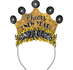 Gold New Year's Crown Headband