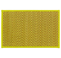 Kiwi Green Chevron Bamboo Placemat