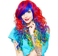 Curly Rainbow Cosplay Wig