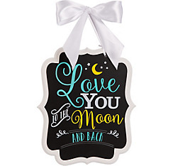 Moon Baby Shower Chalkboard Sign