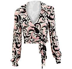 70s Hottie Pink Paisley Disco Shirt
