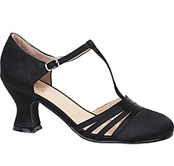 Black T-Strap High Heel Shoes