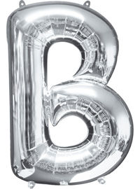 giant silver letter b balloon