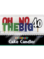 Oh No the Big 40 Birthday Candles