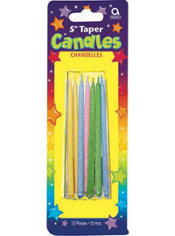 Pastel Mini Taper Birthday Candles 5in 12ct