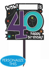 The Party Continues 40th Birthday Yard Sign 14in x 15in