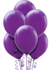 New Purple Latex Balloons 12in 72ct