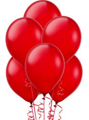 Apple Red Latex Balloons 12in 72ct