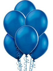 Bright Royal Blue Pearlized Latex Balloons 12in 72ct