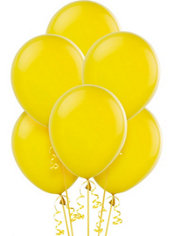 Sunburst Yellow Latex Balloons 12in 15ct