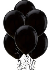 Black Latex Balloons 12in 15ct