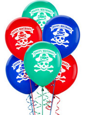 Latex Pirate's Treasure Birthday Balloons 12in 6ct