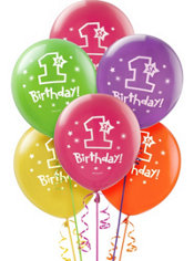 One-Derful Girl 1st Birthday Balloons 12in 15ct
