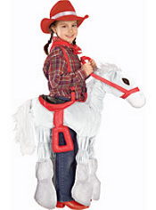 Girls White Horsey Costume