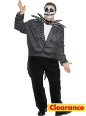Adult Jack Skellington Costume Plus Size - Nightmare Before Christmas